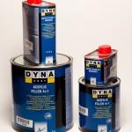 Dynacoat Filler 4+1 3L, Ilardener 0.75L. Fillcr 4+1 1 L. Hardener 0.25L
